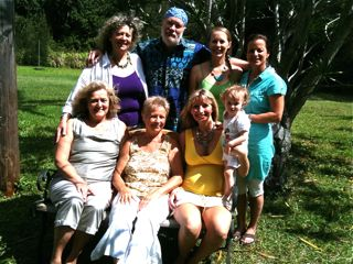 graduation group of Joy Gardner's Vibrational Healing Certification Programin Hawaii on the Big Island in 2011